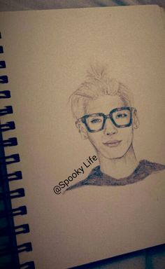 My drawing of Jonghyun. Done by @Spooky Life
