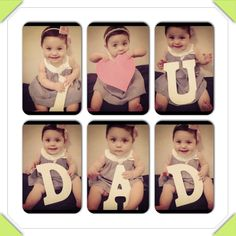 First Father's Day gift - @Taryn H H Taylor This would be realllllllly cute to do with Gentry!