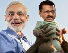 Narendra Modi Hold Arvind kejriwal Funny