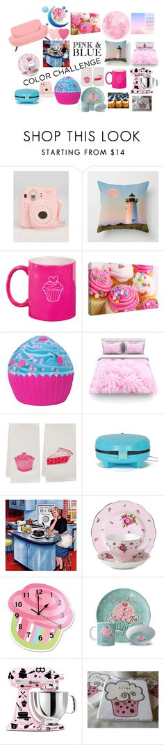 """Pink and Blue Cupcake House"" by sophieladydeparis ❤ liked on Polyvore featuring interior, interiors, interior design, home, home decor, interior decorating, Laura Ashley, Iscream, Artgoodies and Marmont Hill"