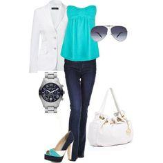 Aqua Strapless Top :)