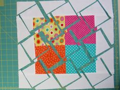 elsie's girl: adventures in pinwheels - great tutorial on this technique, fabulous baby quilt!!  L'il Twister Tool