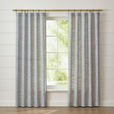 "Reid Blue 48""x96"" Curtain Panel + Reviews 