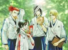 Bleach ~~ When they were younger :: Izuru, Momo, Renji, and Hisagi