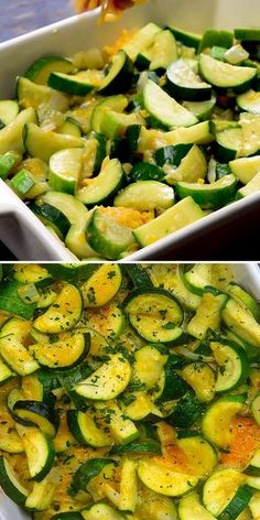 zucchini casserole is loaded with veggies and cheese! Makes a great low carb side dish and it's keto friendly too.This zucchini casserole is loaded with veggies and cheese! Makes a great low carb side dish and it's keto friendly too. Zucchini Side Dishes, Low Carb Side Dishes, Veggie Side Dishes, Vegetable Dishes, Side Dish Recipes, Vegetable Recipes, Sliced Zucchini Recipes, Low Calorie Sides, Recipe Zucchini