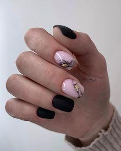 Black and pink geode nail art. Blush Nails, Pink Nails, Gel Nails, Acrylic Nails, Gorgeous Nails, Love Nails, Pretty Nails, Gothic Nails, Pink Nail Art