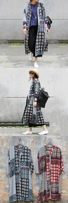 Bang!!! Cotton linen loose shirt dress with 3/4 length Sleeve.soooo Bohemian…