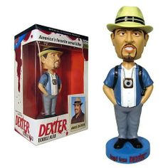 Bif Bang Pow! Dexter Bobble Head Angel Batista by Bif Bang Pow!. $12.99. Recommended Age: 18 years and up. CHOKING HAZARD - Small parts. Not for children under 3 yrs.. From Showtime's hyper-popular Dexter TV series, comes Angel Batista... as a 7-inch tall, resin bobble head! The friendly, flirtatious, and honest-to-a-fault homicide detective is accurately rendered here by Bif Bang Pow! In his signature hat and garb, he's ready to wobble away at your whim. Be honest now......