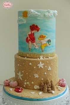 A Beach day(Sweet Summer Collaboration Cake) - Cake by Prachi Dhabaldeb