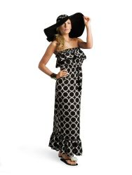Black Ring Maxi Dress | Gift | Mud Pie
