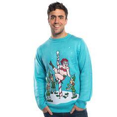 The off season at the North Pole can get quite entertaining once Mrs Claus has a few drinks! This new design form Funky Christmas Jumpers is guaranteed to make an impression at the office christmas party. Office Christmas Party, Christmas Parties, Blue Christmas, Mens Christmas Jumper, Christmas Jumpers, Mrs Claus, Good Books, Santa, Graphic Sweatshirt