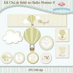 Kit Festa Chá de Bebê Balão Menino II