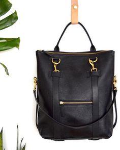 Items similar to Leather Backpack Laptop Bag Convertible Backpack Minimalist Black Leather Backpack Shoulder Bag Tote Bag Laptop Bag Mabel Pack on Etsy Leather Laptop Backpack, Black Leather Backpack, Backpack Straps, Backpack Purse, Tote Bag, Camo Purse, Travel Purse, Leather Briefcase, Travel Backpack