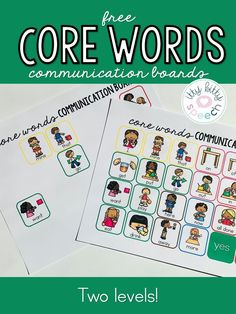 Grab this freebie to encourage communication in your classroom or speech room, includes 2 core word boards (2 levels) following the Modified Fitzgerald Key. Enjoy core words, AAC, augmentative alternative communication, autism, early childhood, communication board, PECs Speech Therapy Autism, Speech Language Pathology, Speech And Language, Spanish Language, French Language, Vocabulary Activities, Speech Therapy Activities, Articulation Activities, Language Activities