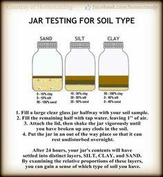 Soil experiment in mason jar