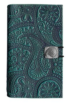 Leather Women's Wallet | Paisley | Oberon Design