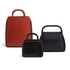 Monica Förster designs leather bags for Palmgrens