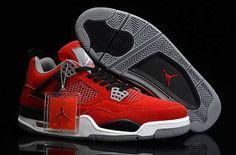factory authentic e9f4d 6ec39 UK Trainers Size Nike Air Jordan 4 Mens Anti Fur Red Black Grey Michael  Jordan