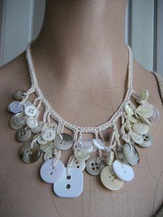 She lovingly hand crocheted this necklace with 100% cotton thread & an ...                                                                                                                                                      Más