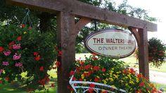 Lots of beautiful flowers surrounding us. www.walterstheatre.com