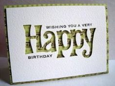Like The Negative Image Backed With Patterned Paper By Chelsea Send Birthday Card