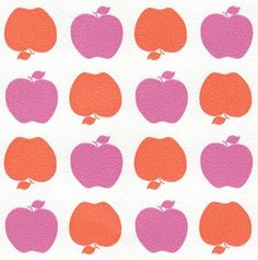 Behang Kinderkamer Appeltjes Roze/Rood van Inke