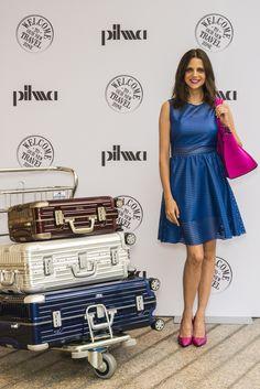 La actriz Macarena Gómez en la inauguración de la nueva zona Travel de Pilma Diagonal.
