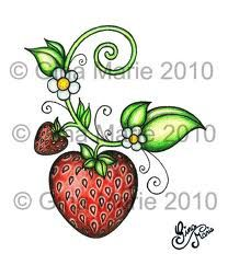 Strawberry Tattoo for behind the ear Vine Tattoos, Ankle Tattoos, Body Art Tattoos, Small Tattoos, Tatoos, Temporary Tattoos, Strawberry Tattoo, Strawberry Art, Tattoo Cake
