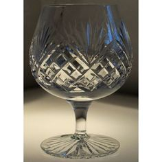 Large Brandy Glass, finest lead cut crystal. C 15 fl.oz. £ 27.50  http://www.welshroyalcrystal.co.uk/product.php?id=21