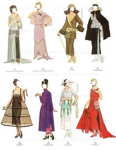 Flapper 1920s Fashion Paper Dolls Printable by mindfulresource