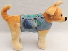 Hey, I found this really awesome Etsy listing at https://www.etsy.com/listing/163312625/distressed-denim-dog-harness-vest-dog