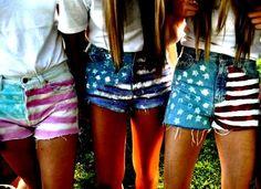 Homemade 'Merica shorts