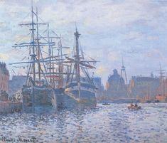 Monet - Le Bassin du commerce, Le Havre - 1874