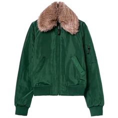 Yoins Quilted Bomber Jacket with Artificial Fur Collar (68 AUD) ❤ liked on Polyvore featuring outerwear, jackets, yoins, green, green quilted jacket, quilted jacket, green bomber jacket, green flight jacket and bomber style jacket