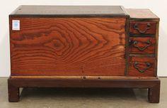 japanese hibachi   Japanese Wooden Tokyo-style Hibachi : Lot 94A
