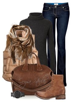 November Casual by orysa on Polyvore featuring polyvore, fashion, style, Ann Demeulemeester, J.Crew, Paige Denim, Freebird, Givenchy, Michael Kors and Missoni