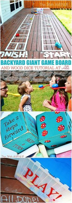 Kids Activities - How to make a Backyard Giant  Game Board