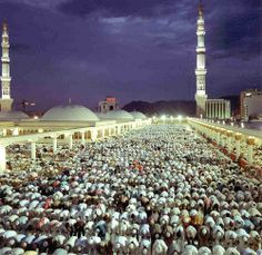 Des fidèles priant à Medine.