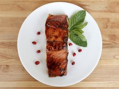 Pomegranate Glazed Salmon - Salmon seared and glazed with pomegranate molasses, finished in a slow oven for a perfect, caramelized finish. Salmon Recipes, Fish Recipes, Seafood Recipes, Cooking Recipes, Yummy Recipes, Healthy Recipes, Holiday Fish Recipe, Holiday Recipes, Bon Appetit