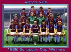 Aston Villa team group with the European Cup in First Football, Retro Football, World Football, Vintage Football, Football Team, Aston Villa Team, Birmingham England, European Cup, Football Pictures