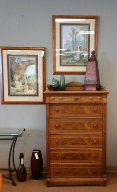 Beautiful Pairing Of Art And Dresser   Posh Peacock Consignment Gallery.  Omaha, NE