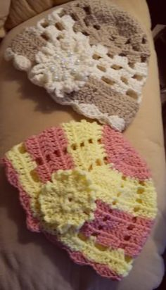 Crochet Hats with Flowers and Tatted Butterfly