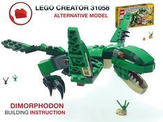 Lego Creator, The Creator, Lego Dinosaur, Lego Models, Diy Toys, Bricks, Dinosaurs, Minecraft, Alternative