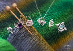 AYAOTA Silver Pendants - Knitting 2