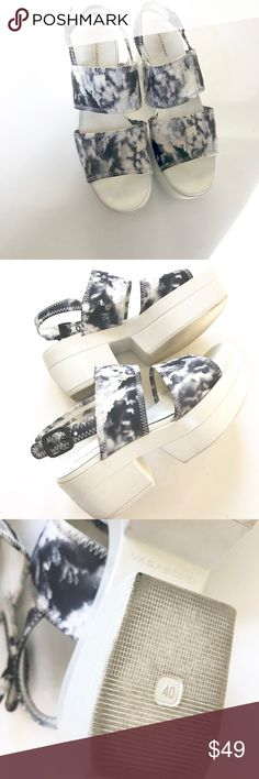 Women's Vagabond Platform Print Sandals Sz 40 Cool and funky design. Lovely print, very comfortable shoes. They are in overall good condition, shows some wear. Please see photos for details. Vagabond Shoes Platforms