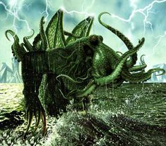 """It's well known that the great Cthulhu has a particular bond with artists of all sorts. Lovecraft's """"The Call of Cthulhu"""" it's docu. Lovecraft Cthulhu, Hp Lovecraft, Dark Fantasy, Fantasy Art, Cthulhu Tattoo, Yog Sothoth, Call Of Cthulhu, Apocalypse Survival, Fantasy Inspiration"""