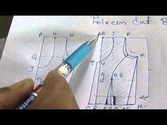 Princess cut Blouse Measurement/Drafting/Pattern/Layout/Cutting/Stitching part 2 hindi - YouTube