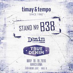 We're in Barcelona on 18-19 May. Denim Première Vision #timaytempo #timay #tempo #metal #accessories #button #denim #fastener #jeans #fashion #collection #prongsnapfastener #klikıt #snap #aksesuar #düğme #leather #sewing #sewonbutton #denimPV #denimpremierevision #fair #Barcelona #truedenim