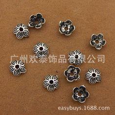 DIY饰品配件S925泰银配件 9MM花托花帽隔珠手链项链垫片串珠材料