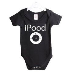 iPood ipod funny babygrow baby suit gift. #Babies #Humor #Funny #Silly